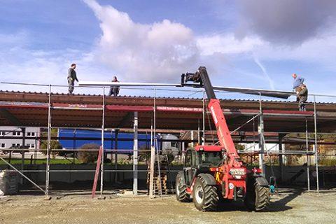 Gerüstbau für den Hallenbau, Horb-Mühringen